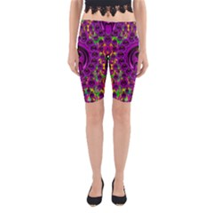 Love For The Fruit And Stars In The Milky Way Yoga Cropped Leggings