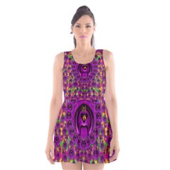 Love For The Fruit And Stars In The Milky Way Scoop Neck Skater Dress