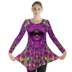 Love For The Fruit And Stars In The Milky Way Long Sleeve Tunic