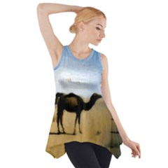 Moroccan Camels Painting Side Drop Tank Tunic