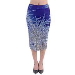 Crystalline Branches Midi Pencil Skirt