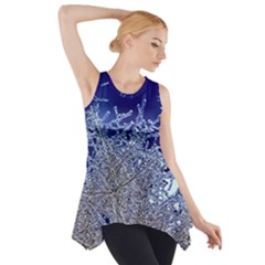 crystalline branches Side Drop Tank Tunic