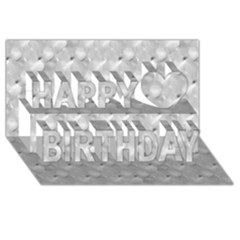 Ditsy Flowers Collage Happy Birthday 3D Greeting Card (8x4)