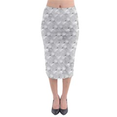Ditsy Flowers Collage Midi Pencil Skirt