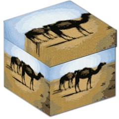 Moroccan Camel Tapestry Storage Stool 12