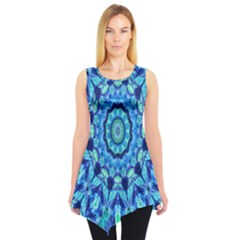 Blue Sea Jewel Mandala Sleeveless Tunic