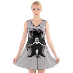 Yolandi V-Neck Sleeveless Skater Dress