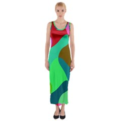 Retro Shapes                                   Fitted Maxi Dress