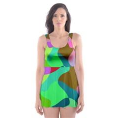 Retro shapes                                   Skater Dress Swimsuit