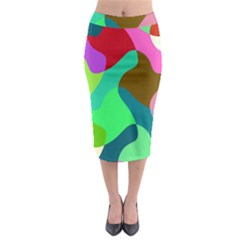 Retro Shapes                                     Midi Pencil Skirt