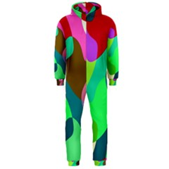 Retro shapes                                   Hooded Jumpsuit (Men)
