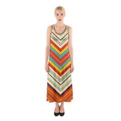 Bent Stripes                                    Full Print Maxi Dress