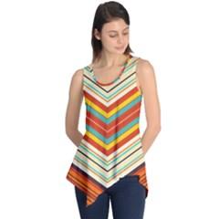 Bent Stripes                                    Sleeveless Tunic