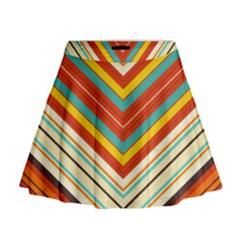 Bent Stripes                                      Mini Flare Skirt
