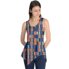 4 colors shapes                                    Sleeveless Tunic