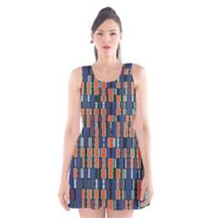 4 Colors Shapes                                    Scoop Neck Skater Dress