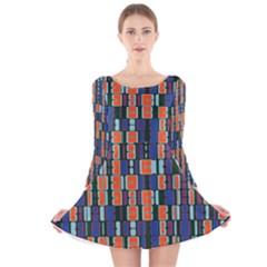 4 colors shapes                                    Long Sleeve Velvet Skater Dress