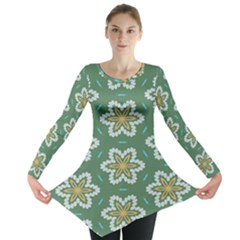 Yellow flowers pattern                                    Long Sleeve Tunic
