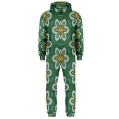Yellow flowers pattern                                    Hooded Jumpsuit (Men)