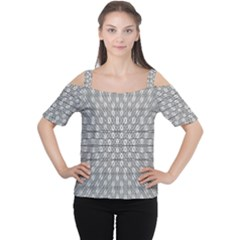 Look Inside Women s Cutout Shoulder Tee