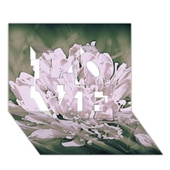 White Flower Love 3d Greeting Card (7x5)