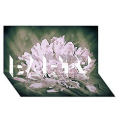 White Flower Party 3d Greeting Card (8x4)