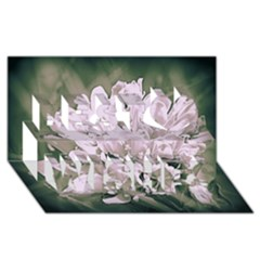 White Flower Best Wish 3D Greeting Card (8x4)