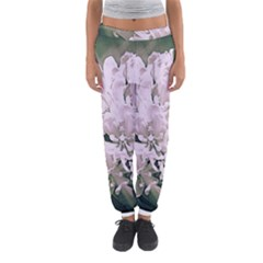 White Flower Women s Jogger Sweatpants