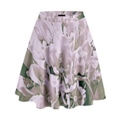 White Flower High Waist Skirt