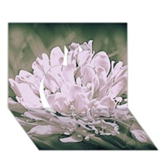 White Flower Apple 3d Greeting Card (7x5)