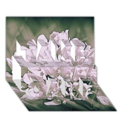 White Flower TAKE CARE 3D Greeting Card (7x5)