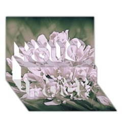 White Flower You Rock 3D Greeting Card (7x5)