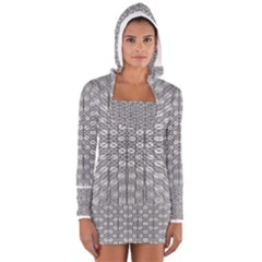 Ripple N Fold Ondule Women s Long Sleeve Hooded T-shirt