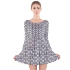 Ripple N Fold Ondule Long Sleeve Velvet Skater Dress