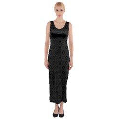 Black Perfect Stitch Fitted Maxi Dress