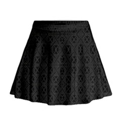 Black Perfect Stitch Mini Flare Skirt