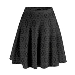 Black Perfect Stitch High Waist Skirt