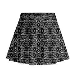 Number Art Mini Flare Skirt