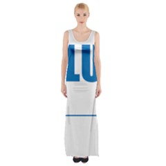 Blue Lives Matter 9 Maxi Thigh Split Dress