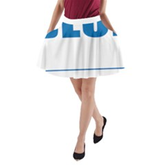 Blue Lives Matter 9 A Line Pocket Skirt