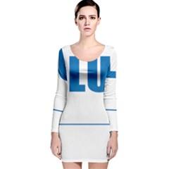 Blue Lives Matter 9 Long Sleeve Velvet Bodycon Dress