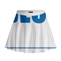 Blue Lives Matter 9 Mini Flare Skirt