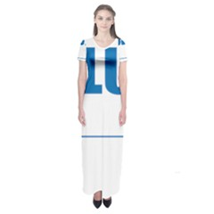 Blue Lives Matter 9 Short Sleeve Maxi Dress