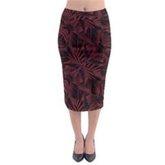 Sharp Tribal Pattern Midi Pencil Skirt