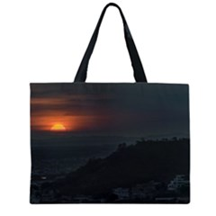 Sunset Scene Landscape Aerial View In Guayaquil From Cerro Del Carmen Zipper Large Tote Bag