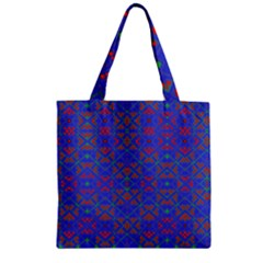 Matrix Five Zipper Grocery Tote Bag