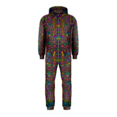 Peacock Eyes In A Contemplative Style Hooded Jumpsuit (Kids)