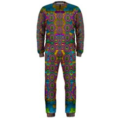 Peacock Eyes In A Contemplative Style Onepiece Jumpsuit (men)