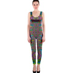 Peacock Eyes In A Contemplative Style Onepiece Catsuit