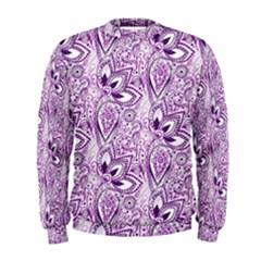 Purple Paisley Doodle Men s Sweatshirt